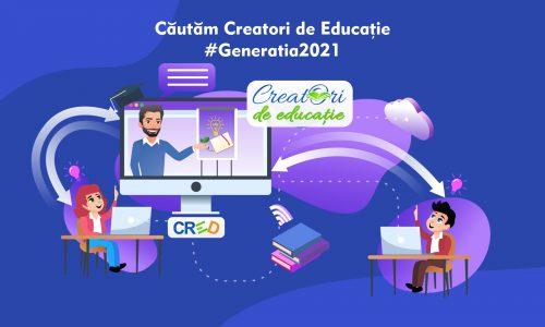 """Proiectul CRED a lansat a treia ediţie a selecţiei """"Creatori de Educaţie"""""""