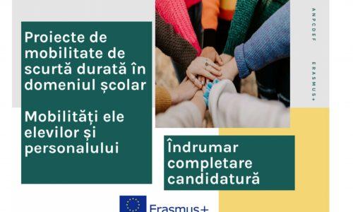 Erasmus+: Ghiduri de scriere a proiectelor de mobilitate de scurtă durată