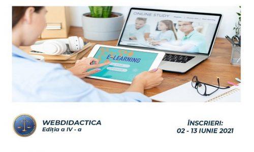 WEBDIDACTICA IV – o nouă serie de webinare gratuite pentru instruirea profesorilor în predarea online și mixtă