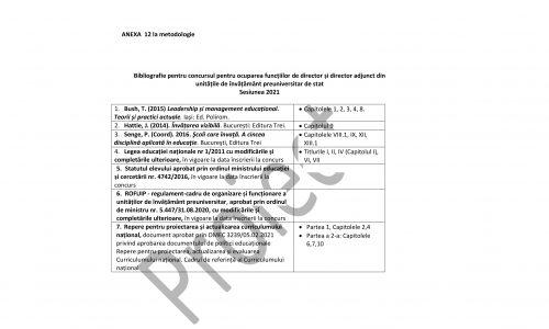 ME a publicat pe site proiectul de ordin privind aprobarea metodologiei de concurs pentru directori și directori adjuncti